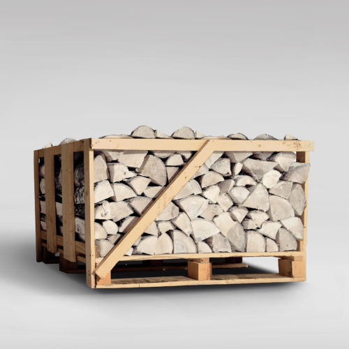 Sterling Silver Birch Firewood - Compact Crate