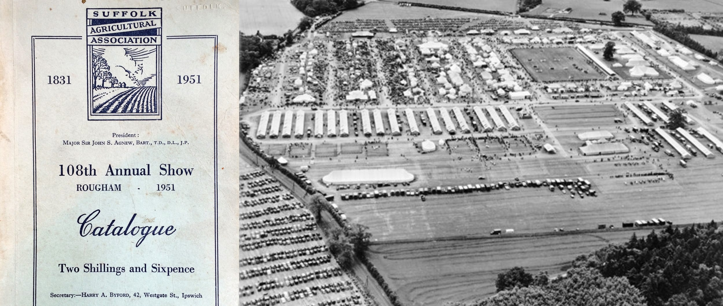 Suffolk Show on Rougham Estate in 1951